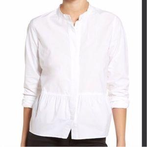 Madewell Peplum Button Down Shirt